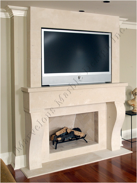 Maria Limestone Mantel with TV - Marble Flooring Designs And Limestone Fireplace Mantel New
